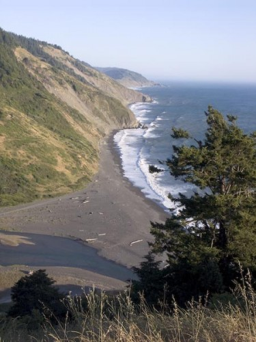 usal beach from coastal trail