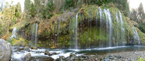 Waterfall on the Sacramento River near Dunsmuir, California