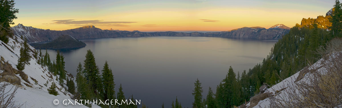 Crater Lake Panorama on Garth Hagerman Photo/Graphics