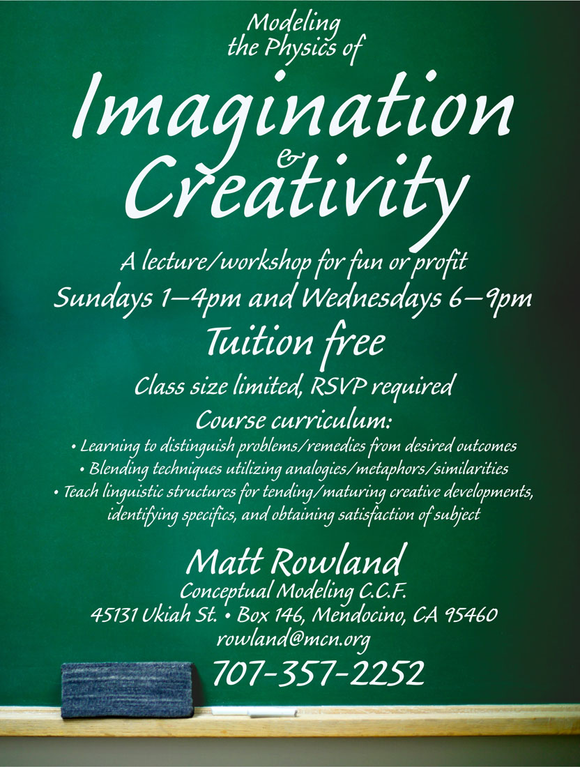 Imagination and Creativity Class on Garth Hagerman Photo/Graphics