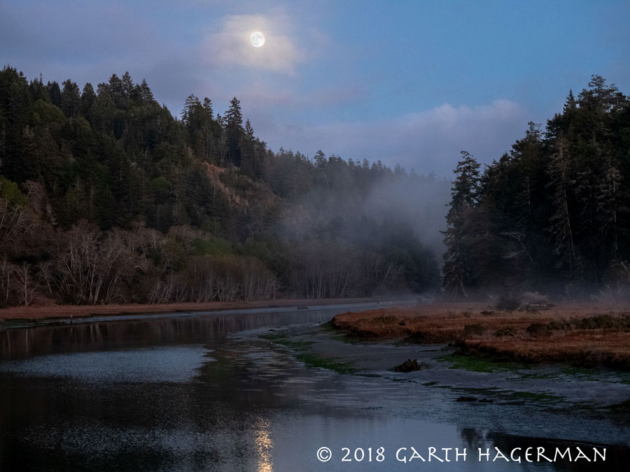 Moon Over Big River on Garth Hagerman Photo/Graphics