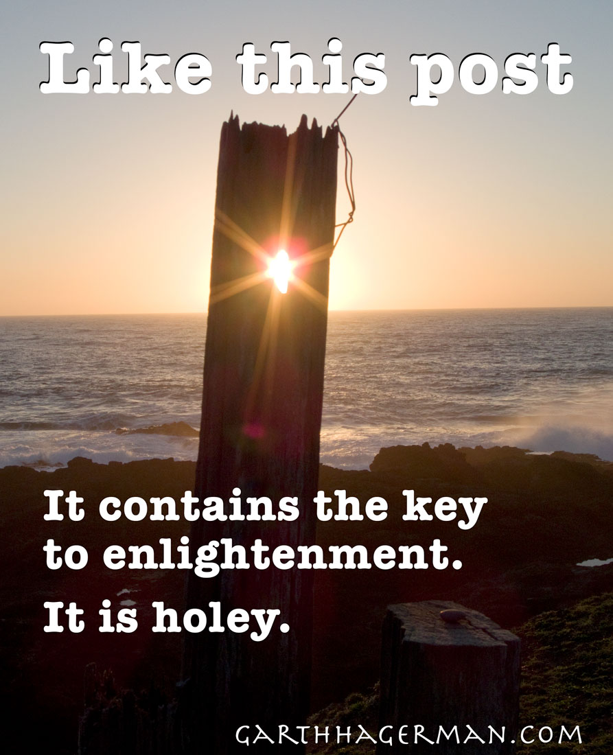 Post of enlightenment on Garth Hagerman Photo/Graphics