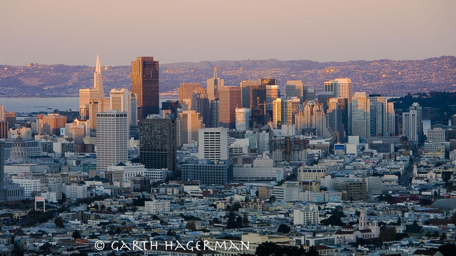 San Francisco Skyline on Garth Hagerman Photo/Graphics