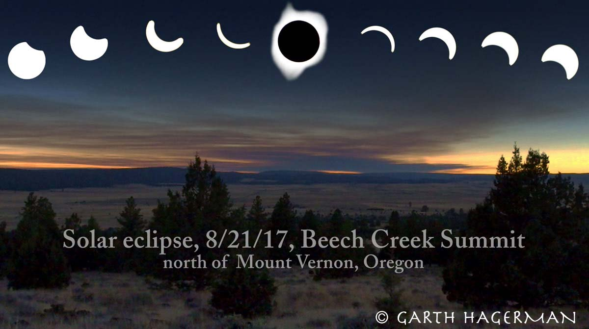 Solar Eclipse Composite on Garth Hagerman Photo/Graphics