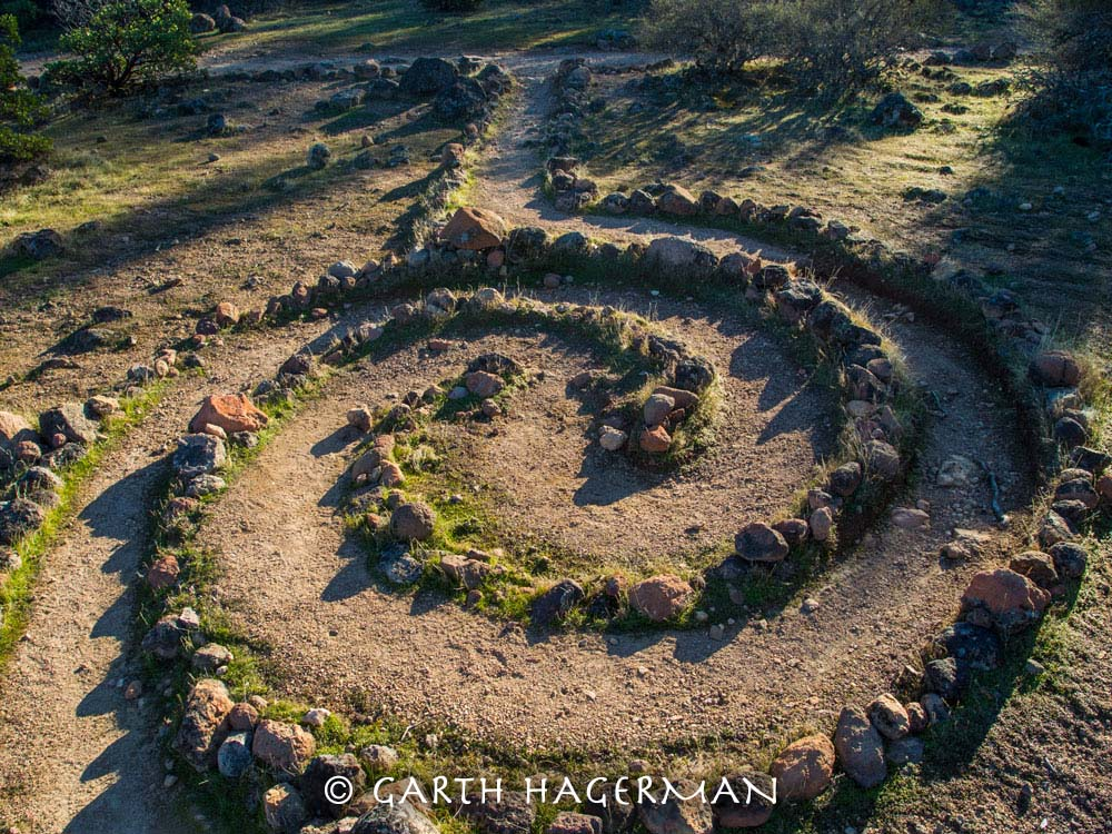 Spiral Labyrinth on Garth Hagerman Photo/Graphics