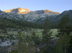 Alpenglow in mountain peaks photo gallery