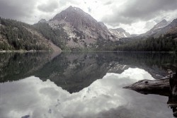 Green Lake in mountain peaks photo gallery