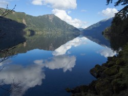Lake Crescent Reflections in lakes and ponds photo gallery