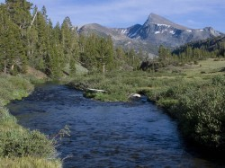 Lee Vining Creek in mountain peaks photo gallery