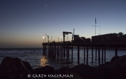 Point Arena Pier in sunset photo gallery