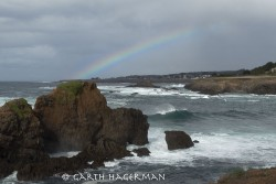 Rainbow over the Pirate Ship in Mendocino photo gallery