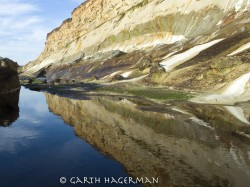 Reflected Cliff in abstract photo gallery