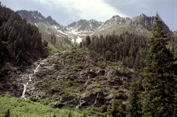Trinity Alps in mountain peaks photo gallery