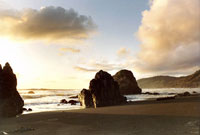 Howard Creek Beach Sunset in Ft. Bragg to Rockport photo gallery